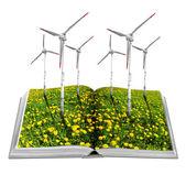 Open ecological book — Stock Photo