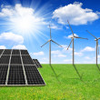 Solar energy panels and wind turbines — Stock Photo #31833279