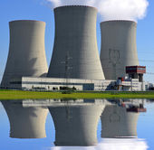 Jaderná elektrárna — Stock fotografie