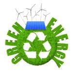 yeşil enerji kavramı — Stok fotoğraf