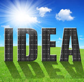 Green energy concept. — Foto de Stock