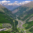 Saas Fee and Saas Grund, Switzerland — Stock Photo