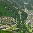 Saas Fee and Saas Grund — Stock Photo