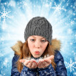 Winter portrait girl — Foto de Stock