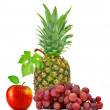 Pineapple,grape wine and apple — Stock Photo