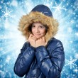 Winter portrait of girl — Stock Photo