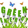 Green energy concepts — 图库照片