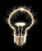 Bulb created a sparkler — Stock Photo