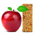 Muesli Bars with apple — Stock Photo