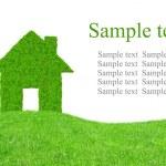 Green grass house symbol — Stock Photo #37440967