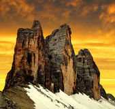 Tre cime di Lavaredo — Stock Photo