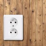 White socket — Stock Photo