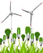 Ampoules éco énergie éoliennes — Photo