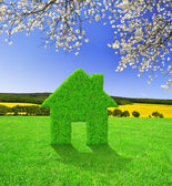 Green house symbol — Stock Photo