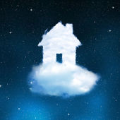 The house from clouds — Stockfoto