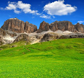 Dolomite peaks,Sella,Val di Fassa — Stock Photo