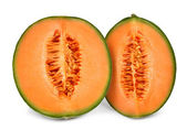 Orange cantaloupe melon isolated — Stock Photo