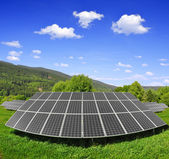 Zonne-energie panelen — Stockfoto