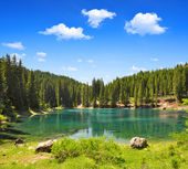 Carezza lake — Stock Photo