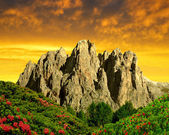Dolomite peaks — Stock Photo