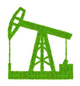 Green oil pump — Stock Photo