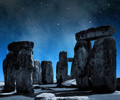 Historical monument Stonehenge in night — Stock Photo