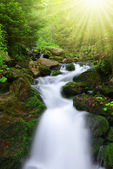 Waterfall in the national park Sumava-Czech Republic — Stock Photo