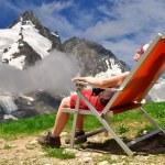 Girl in the Austria Alps — Stock Photo #51331055