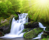 Waterfall in the national park Sumava — Stock Photo
