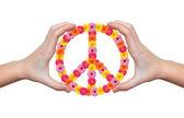 Símbolo de la flor de paz — Foto de Stock