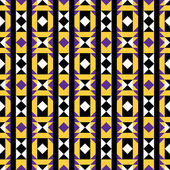 Purple and Yellow Native Pattern — Stock Vector