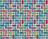 Colorful Hand Drawn Pattern — Stock Vector