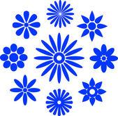 Floral Logo Elements — Stock Vector