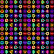 Vibrant flowers pattern — Stock Vector
