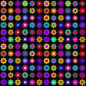 Vibrant flowers pattern — Stock Vector