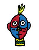 Tribal ansikte — Stockvektor