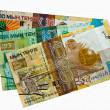 Kazakh banknotes isolated on white — Stock Photo