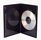 The DVD case isolated — 图库照片