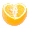 The cut orange — Stock Photo