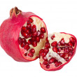 The cut pomegranate — Stock Photo