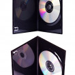 The DVD case with a disk isolated — Stock Photo