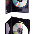 The DVD case with a disk inserted isolated — Stock Photo