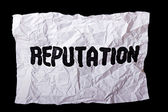"Wrinkled sheet of paper with inscription ""Reputation"" — Stock Photo"