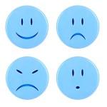 Four blue smileys — Stock Photo #21664915