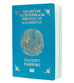 Blue passport isolated — Stock Photo