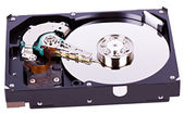 Hard drive opened — Stock Photo