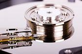 Hard drive closeup — Stock Photo