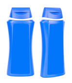 Shampoo blue containers isolated — Foto Stock