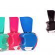 Four nail polish bottles — Stock Photo