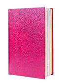 Röda boken står isolerade — Stockfoto